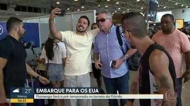Flamengo embarca para os EUA para disputar torneio da Flórida - Equipe rubro-negra embarcou neste dominfo para Orlando onde disputará a Flórida Cup. O flamengo tem jogos marcados contra o Ajax da Holanda e o Eintracht Frankfurt da Alemanha.