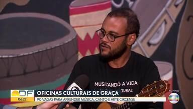 Projeto cultural na Vila Telebrasília oferece cursos gratuitos - São 90 vagas para aprender cavaquinho, canto e arte circense.