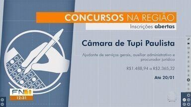 Concursos públicos oferecem oportunidades na região de Presidente Prudente - Existem vagas na Unesp e na Câmara Municipal de Tupi Paulista.