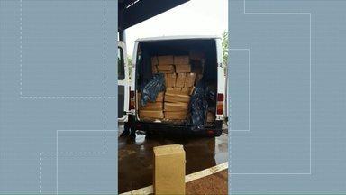 Polícia Argentina apreende carga de camarão que estava em van com placas do Brasil - A carga estava sendo trazida para o Brasil sem pagamento das taxas de exportação.