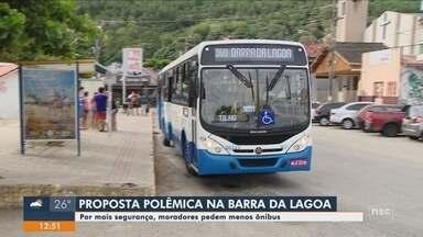 Moradores da Barra da Lagoa em Florianópolis pedem menos ônibus na região por segurança - Moradores da Barra da Lagoa em Florianópolis pedem menos ônibus na região por segurança