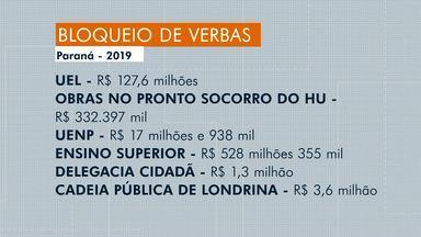 Decreto do Governo do Estado bloqueia R$ 8,1 bilhões do orçamento de 2019 - Em Londrina, a UEL foi um dos setores mais atingidos: o bloqueio chegou a R$ 127,6 milhões.