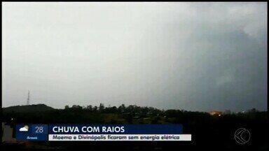 Após temporal, cidades do Centro-Oeste de Minas ficam sem energia elétrica - Abastecimento foi restabelecido. Veja imagens.