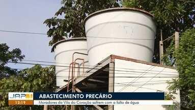 Moradores da Vila do Coração da Zona Oeste de Macapá sofrem com a falta de água - Comunidade se desdobra para conseguir água nas residências, o sistema de fornecimento da Caesa não é interligada e só três poços artesianos atendem as famílias.