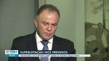 Renato Casagrande se reúne com Moro para debater superlotação de presídios - Atualmente os presídios do Espírito Santo têm um déficit de 9 mil vagas.