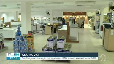 Confiança na construção civil aumenta 120% e setor volta a crescer no Sul do Rio em 2019 - Panorama positivo faz aumentar também a expectativa de lojas de material de construção.