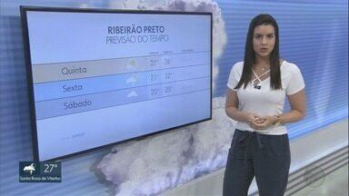 Confira a previsão do tempo para esta quinta-feira (10) - Região de Ribeirão Preto deve registrar calor e tempo firme.