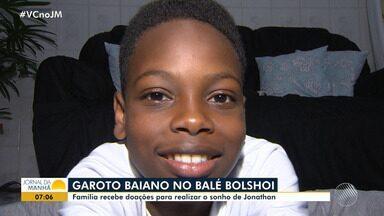 Família faz campanha para financiar estudos no Balé Bolshoi para menino baiano - A família do garoto não tem condições para manter o treinamento do jovem no local.