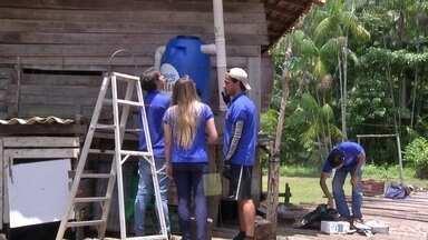 Filtro feito com material reciclável leva água potável para quem não tem - Projeto criado por estudantes do Pará é o tema do quadro Grandes Ideias Pequenas Invenções.