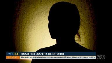 Suspeito de estuprar menino de 12 anos é preso - De acordo com a polícia, ele teria estuprado o garoto por seis vezes