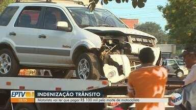 Justiça condena motorista que atropelou e matou motociclista em Ribeirão Preto (SP) - Motorista vai ter que pagar R$ 100 mil pela morte do motociclista.