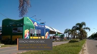 Começam atividades da Estação Verão Sesc na Praia do Cassino - Até o dia 5 de março, várias ações acontecem de graça na avenida Atlântica.