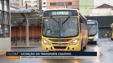 CMTU volta a abrir prazo para abertura dos envelopes da licitação do transporte coletivo - A Justiça de Londrina concedeu uma liminar à prefeitura derrubando a decisão do Tribunal de Contas do estado que tinha travado o processo de licitação do transporte coletivo.