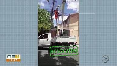 Problemas de iluminação e galhos que atingiam fiação elétrica são resolvidos em Caruaru - Problemas foram mostrados no Você no ABTV na sexta-feira (4).