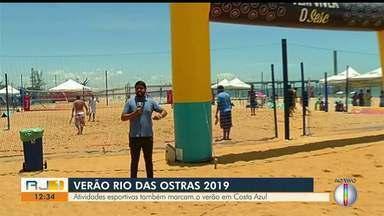 Esportes fazem parte da programação de verão na Praia de Costazul, em Rio das Ostras - Assista a seguir.