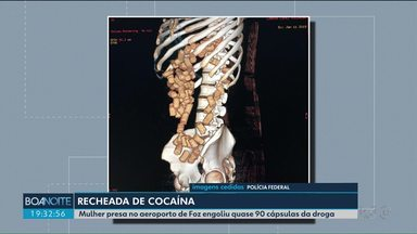 Paraguaia é presa em flagrante no aeroporto de Foz do Iguaçu com o corpo cheio de cocaína - Segundo a polícia, ela ingeriu 87 cápsulas da droga.