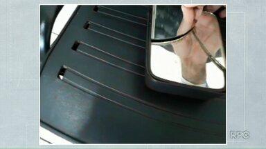 Espelho quebrado de retrovisor faz polícia chegar a criminoso - Furto de laranjas em Uraí é solucionado pela polícia.