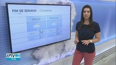 Sábado tem máxima de 34ºC em Campinas - Confira a previsão do tempo nas cidades da região.