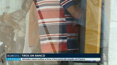 Atirador mata mulher a tiros e fere outra de raspão em Castro - Márcia Antonio Ribeiro morreu depois de levar dois tiros dentro de uma agência bancária. O principal suspeito é o ex-marido da vítima.