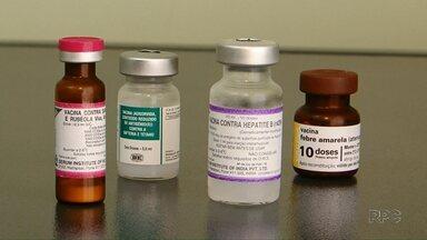Últimas doses de vacina foram entregues nos postos de saúde de Guarapuava - A carteirinha de vacinação atualizada é requisito para efetivar as matrículas nas escolas.