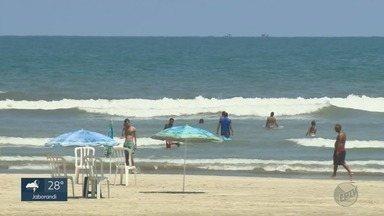"""""""EPTV na Praia"""" fala sobre a qualidade da água em Praia Grande, SP - Especial mostra as belezas do litoral paulista."""