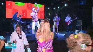 Banda Los Cubanos se apresenta na Fenahall, em Olinda - Apresentação ocorre na área de shows da feira.