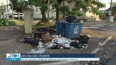 Secretário diz que resolverá problema do lixo de São Vicente nas próximas horas - Jefferson Teixeira, secretário de Governo, afirma que Terracom não quis renovar o contrato pois há uma dívida de R$ 20 milhões da antiga gestão.