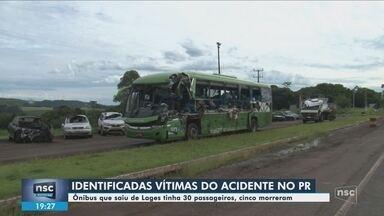 Cinco pessoas morrem em acidente entre ônibus e caminhão-caçamba no Paraná - Cinco pessoas morrem em acidente entre ônibus e caminhão-caçamba no Paraná