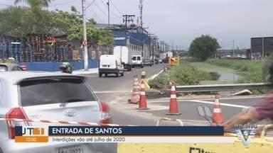 Avenida Nossa Senhora de Fátima é interditada a partir desta segunda-feira (14) - Interdições vão até julho de 2020, mas motoristas têm rotas rotas alternativas para desviar do local interditado por conta das obras.