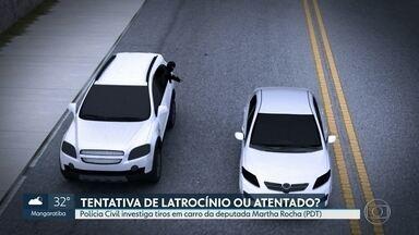 Polícia diz que deputada sofreu tentativa de latrocínio - Bandidos que saíram de um baile funk para roubar carros na Penha atiraram contra carro de Martha Rocha assim que seu motorista reagiu à abordagem.
