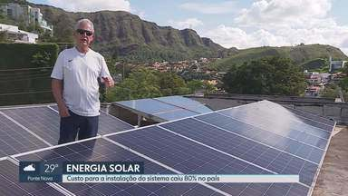 Minas Gerais é o Estado que mais produz energia solar no Brasil - Produzir a própria energia está se tornando cada vez mais possível graças ao barateamento do sistema. Os custos de instalação caíram 80% e, hoje, Minas Gerais é o Estado brasileiro com mais usinas de pequeno porte instaladas.