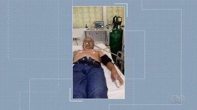 Família luta por UTI para idoso com arritimia cardíaca grave, em Goiânia - Ele está internado em Cais.