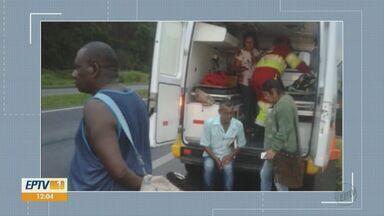 Acidente com micro-ônibus de Mococa mata uma pessoa morre e deixa cinco feridas - Pacientes e acompanhantes estavam sendo levados para o Hospital Boldrini, em Campinas.