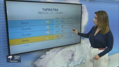 Confira a previsão do tempo para a região nesta quarta-feira - Calor e pancadas de chuva marcam o clima durante o dia.