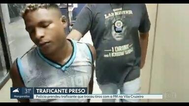 Traficante é preso na Vila Cruzeiro - Bandido foi detido depois de tiroteio com PMs da UPP da comunidade.