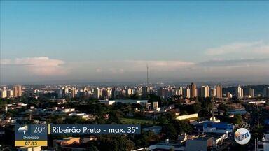 Confira a previsão do tempo para esta sexta-feira (18) em Ribeirão Preto - Há previsão de chuva forte, mas temperatura máxima deve chegar a 35ºC.