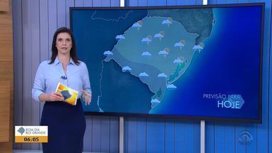 Tempo: sexta-feira (18) começa com chuva em parte do RS - Veja como fica a previsão.