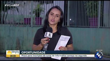 Seduc abre curso de informatica básica - Confira as informações com a repórter Priscila Souza