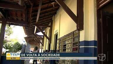 Projeto é referência na reinserção social de detentos do sistema penal em Santarém - Os presos prestam serviço a comunidade, em uma parceria da Susipe com a Prefeitura.