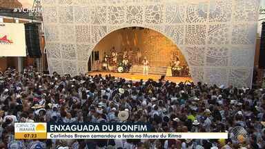 Lavagem do Bonfim: festas particulares esticam a celebração na capital baiana - Artistas como Bell Marques e Carlinhos Brown animaram a quinta-feira (18) em Salvador.