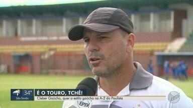 Sertãozinho enfrenta o Água Santa na Série A2 do Campeonato Paulista - Treinador Cleber Gaúcho comenta a preparação dos atletas.