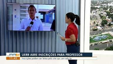 UERR abre inscrições para professor temporário - Inscrições devem ser feitas através do site cpc.uerr.edu.br