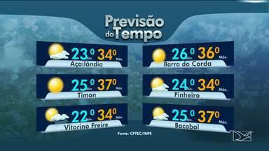 Veja as variações das temperaturas no Maranhão - Confira a previsão do tempo nesta segunda-feira (21) em São Luís e também no interior do estado.