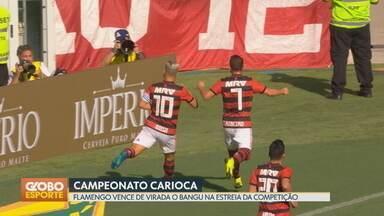 Veja os gols dos campeonatos carioca e paulista - Flamengo vence o Bangu e Botafogo perde para a Cabofriense. Corinthians e Palmeiras empatam seus jogos.