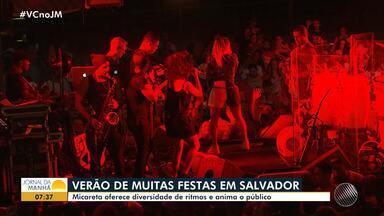 Festas de verão: micareta oferece diversidade de ritmos e anima público, em Salvador - Lincoln Senna, Gustavo Lima e Claudia Leitte cantaram na festa.