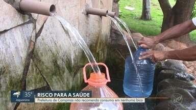 Piracicaba tem dezesseis bicas de água e Semae não indica o consumo de nenhuma - As bicas estão impróprias para o consumo, mesmo assim os moradores continuam enchendo galões nesses pontos para beber.