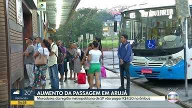 Aumento da passagem em Arujá - Moradores da região metropolitana de SP vão pagar R$4,50 no ônibus