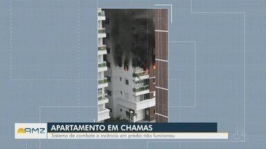 Incêndio atinge apartamento na Zona Centro-Oeste de Manaus - Quatro viaturas do Corpo de Bombeiros foram acionadas.