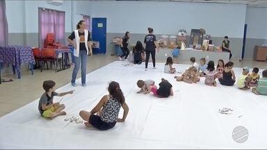 Uems oferece colônia de férias para crianças em Dourados - É oportunidade para a criançada desenhar, rabiscar e se divertir.
