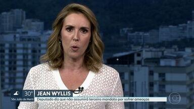 Deputado Jean Wyllis diz que não vai assumir mandato em Brasília - Parlamentar do PSOL alega ter recebido ameaças de morte e diz que há uma campanha contra ele.